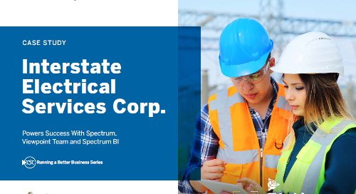 Interstate Electrical Services Powers Success with Trimble Viewpoint's Spectrum, Team and Spectrum BI solutions