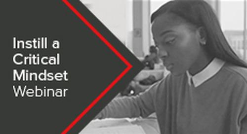 Instill a Critical Mindset Webinar