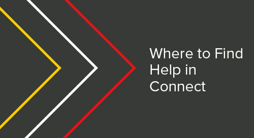 Where to Find Help in Connect