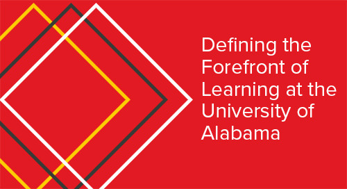 Defining the Forefront of Learning at the University of Alabama