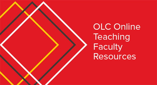 OLC Online Teaching Faculty Resources