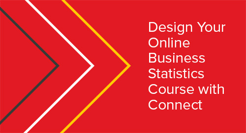 Design Your Online Business Statistics Course with Connect