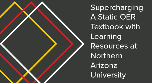 Supercharging A Static OER Textbook with Learning Resources at Northern Arizona University