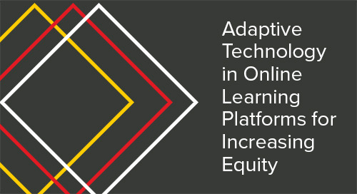 Adaptive Technology in Online Learning Platforms for Increasing Equity