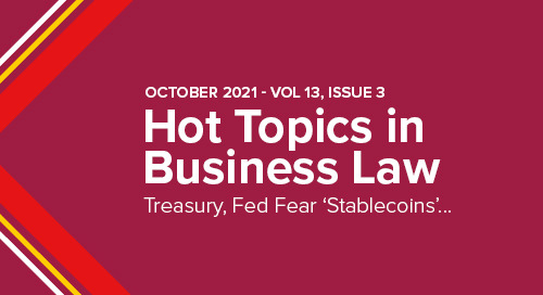 Treasury, Fed Fear 'Stablecoins' Could Disrupt Financial System | October 2021