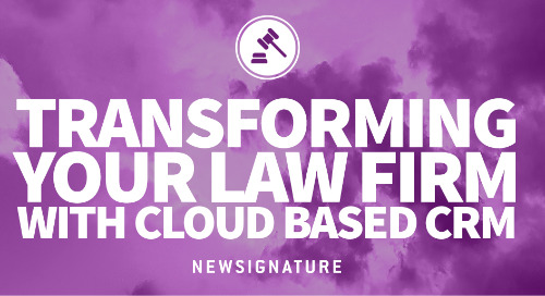 Transforming your Law Firm with Cloud Based CRM Infographic