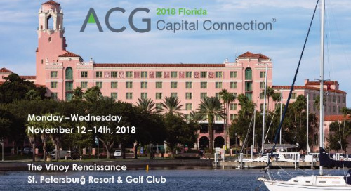 Florida ACG Capital Connection, Nov 12-14, 2018