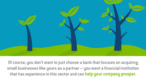 What should small businesses look for in a banking partner?