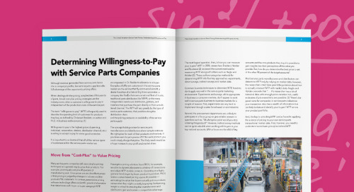 The Critical Variables in Service Parts Pricing: Understanding Willingness-to-Pay