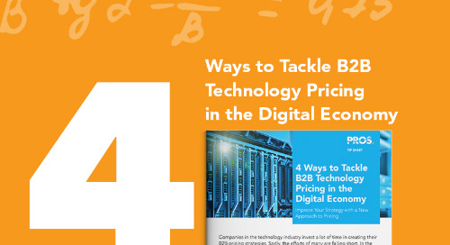 4 Ways to Tackle B2B Technology Pricing in the Digital Economy