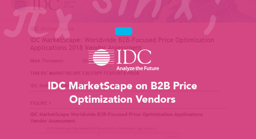 IDC MarketScape on B2B Price Optimization Vendors
