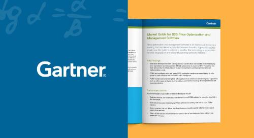 Gartner - Guide du marché sur les logiciels d'optimisation et de gestion des prix en B2B