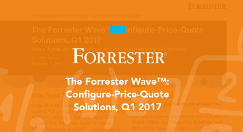 The Forrester Wave™: Configure-Price-Quote Solutions, Q1 2017