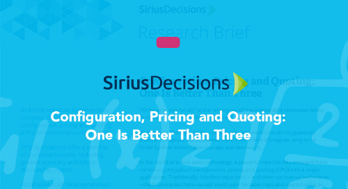 Configuration, Pricing and Quoting: The Power of One Solution