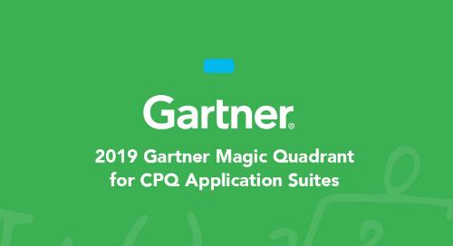 October 2019 Gartner Magic Quadrant for CPQ Application Suites