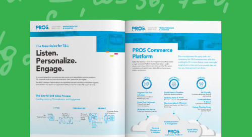 The PROS Commerce Platform for Transportation and Logistics