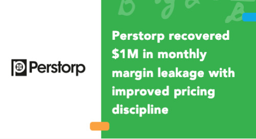 Perstorp Recovered $1M in Monthly Margin Leakage with Improved Pricing Discipline