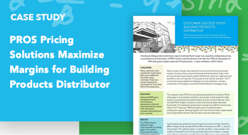 PROS Pricing Solutions Maximize Margins for Building Products Distributor
