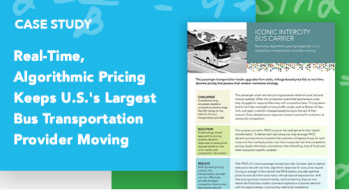 Real-Time, Algorithmic Pricing Keeps U.S.'s Largest Bus Transportation Provider Moving