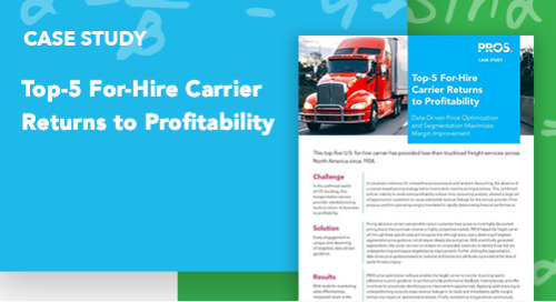Top-5 For-Hire Carrier Returns to Profitability