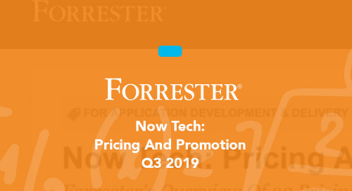 Now Tech: Pricing And Promotion, Q3 2019
