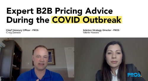 Expert Pricing Advice for the COVID Outbreak