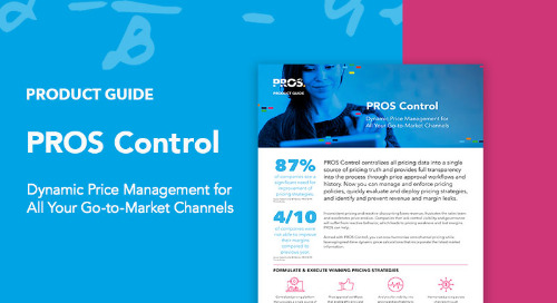 PROS Control Product Guide