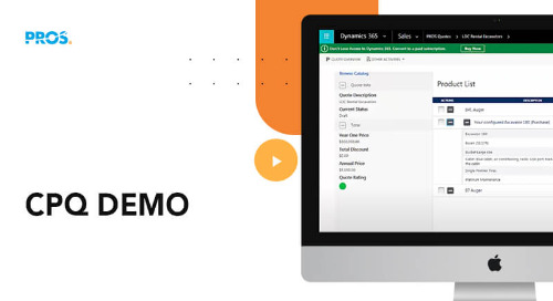 Provide Personalized Selling Engagements with PROS Smart CPQ