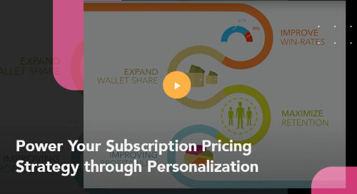 Power Your Subscription Pricing Strategy through Personalization