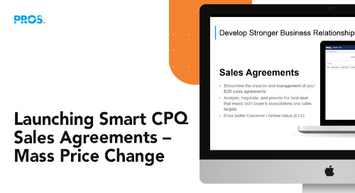 Announcing Smart CPQ Agreements Mass Price Change