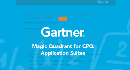 2020 Gartner Magic Quadrant for CPQ Application Suites