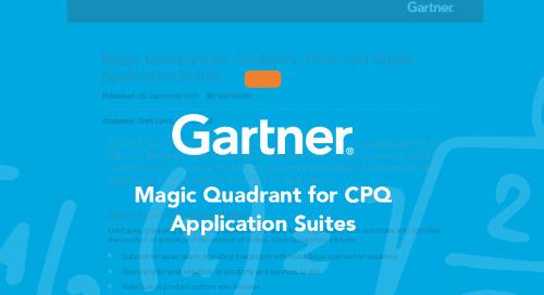 2020 Gartner Magic Quadrant for CPQ Application Suites
