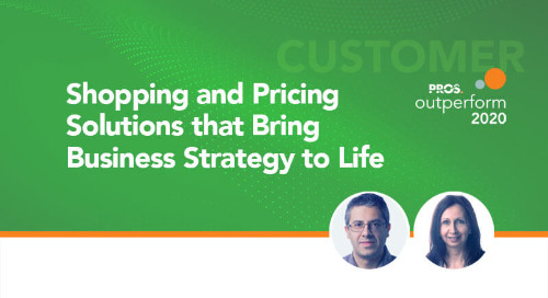 Shopping and Pricing Solutions that Bring Business Strategy to Life