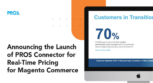 Announcing PROS Connector for Real-Time Pricing