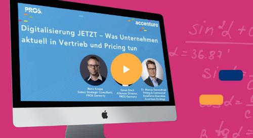 Digitalisierung JETZT – Was Unternehmen aktuell in Vertrieb und Pricing tun