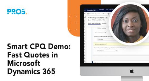 Smart CPQ Demo: Fast Quotes in Microsoft Dynamics 365
