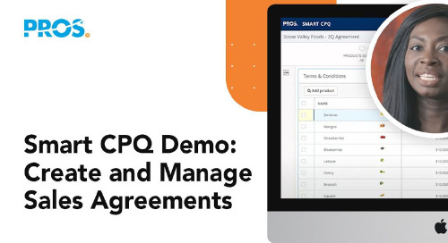 Smart CPQ Demo: Create and Manage Sales Agreements
