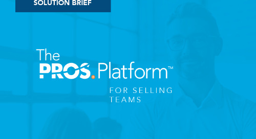 PROS Platform for Sales: Acceleration and Intelligence