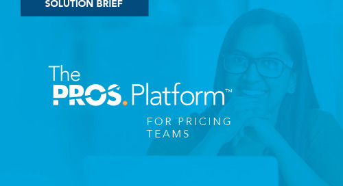 PROS Platform for Pricing: Optimized Price Strategies