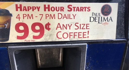 Gas Station Coffee and Promotional Pricing