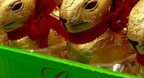Preparing the market for the Easter bunny's chocolate rush