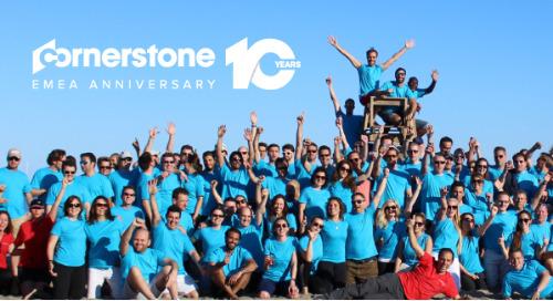 ¡Celebración! Cornerstone en la región EMEA cumple una década en mayo