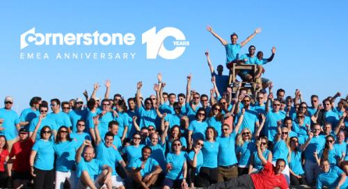 Auf die 10! Im Mai feiert Cornerstone zehnjähriges Jubiläum in EMEA