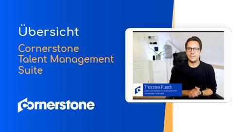 Übersicht über die Cornerstone Talent Management Suite