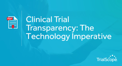 Clinical Trial Transparency - The Technology Imperative