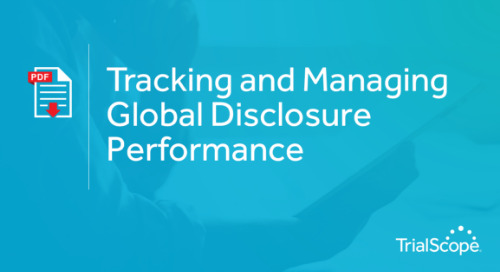 Tracking and Managing Global Disclosure Performance