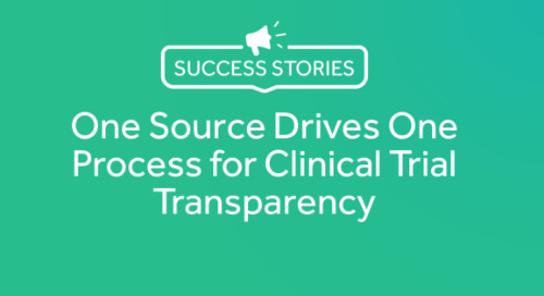 One Source Drives One Process for Clinical Trial Transparency