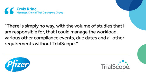 """There is simply no way I could manage without TrialScope"""