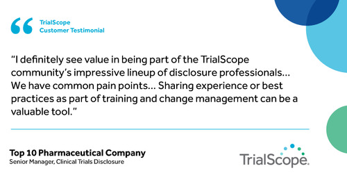 """I definitely see value in being part of the TrialScope community"""