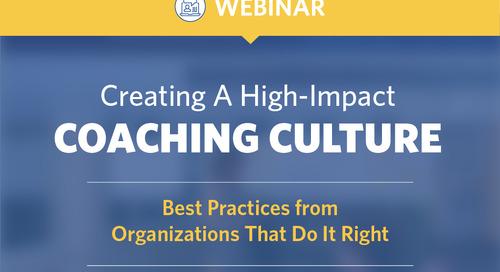 Creating a High Impact Coaching Culture